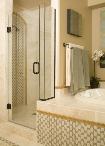 Swing framless shower door
