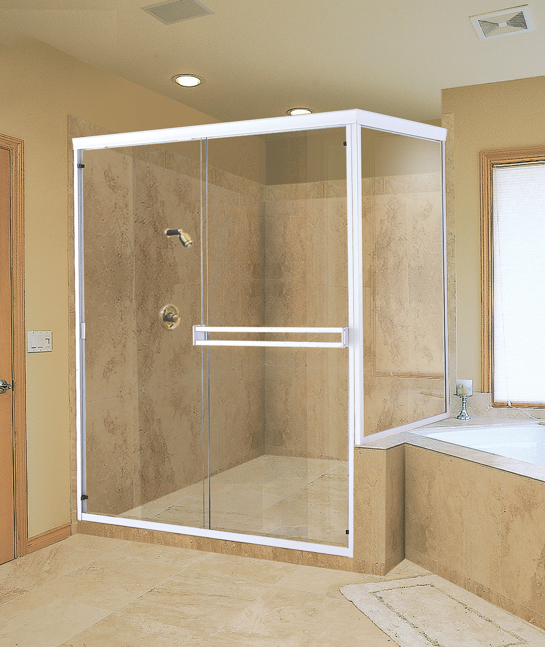 Frameless Shower Door Adds Dramatic Look To Bathroom Romanobdjs Soup